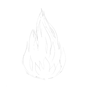 How to draw flames - Step 2