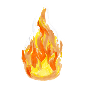 How to draw flames - Step 6