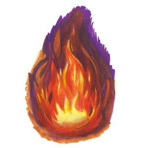 How to draw flames - Step 10