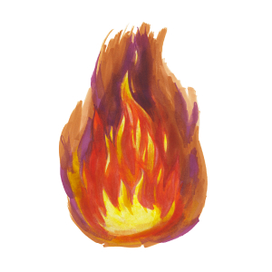 How to draw flames - Step 8