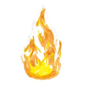 How to draw flames - Step 5