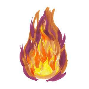 How to draw flames - Step 7