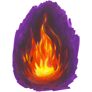 How to draw flames - Step 12