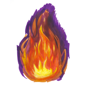 How to draw flames - Step 9