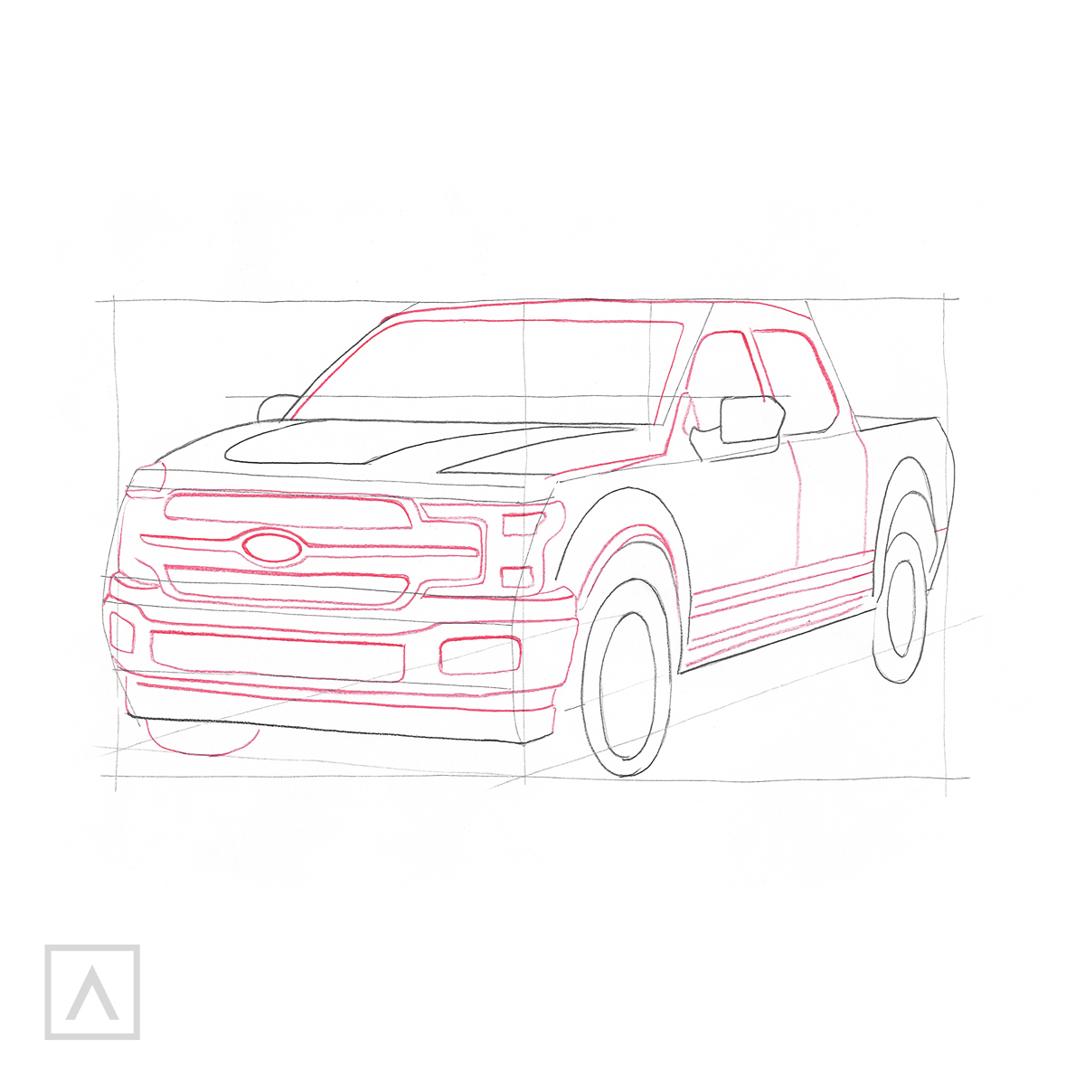 How to Draw a Car - Step 7