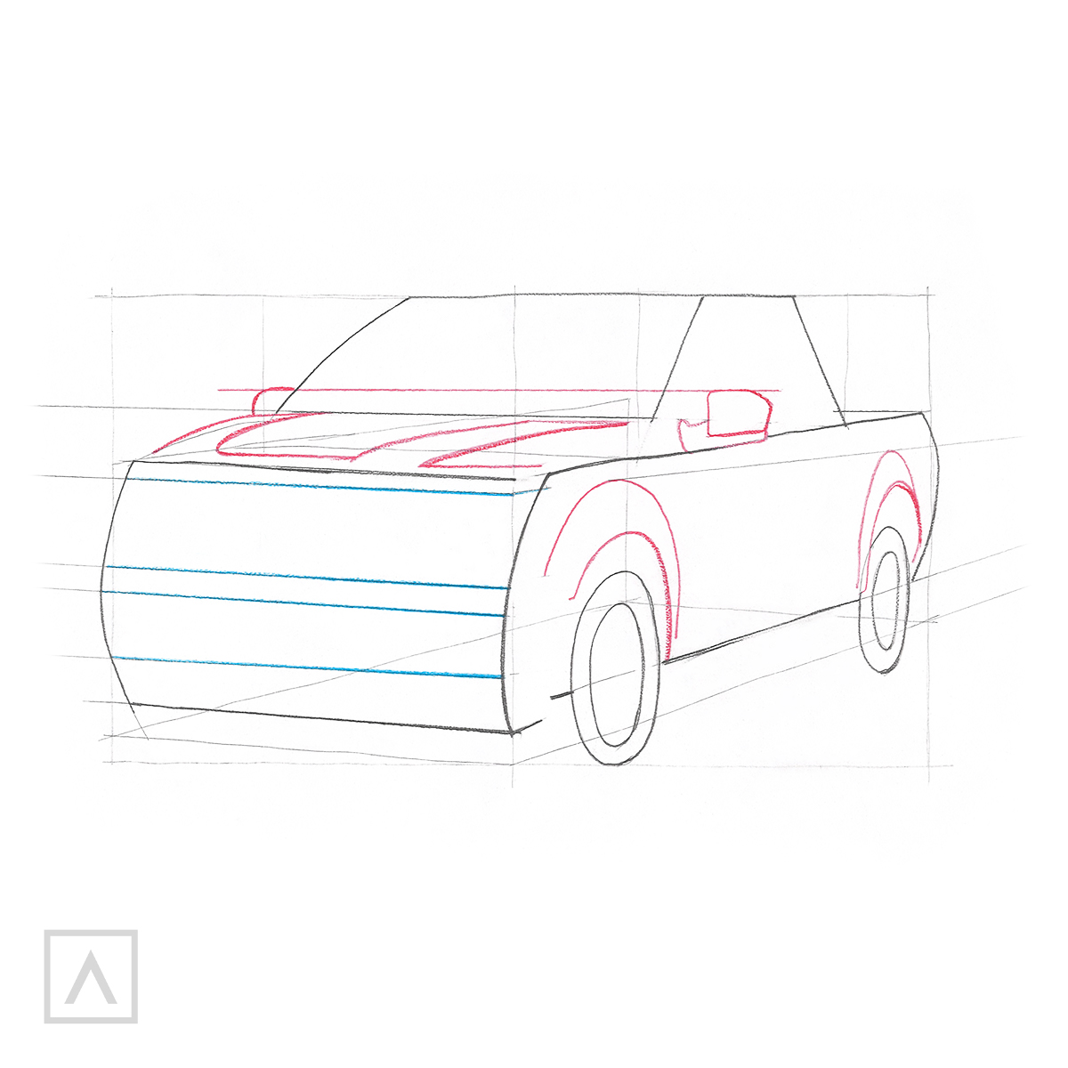 How to Draw a Car - Step 6