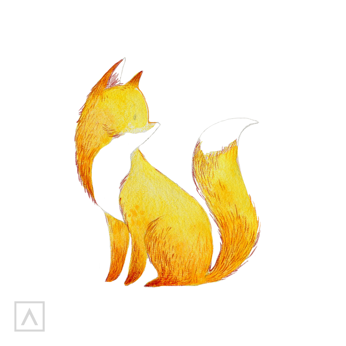 How to draw a fox - Step 6