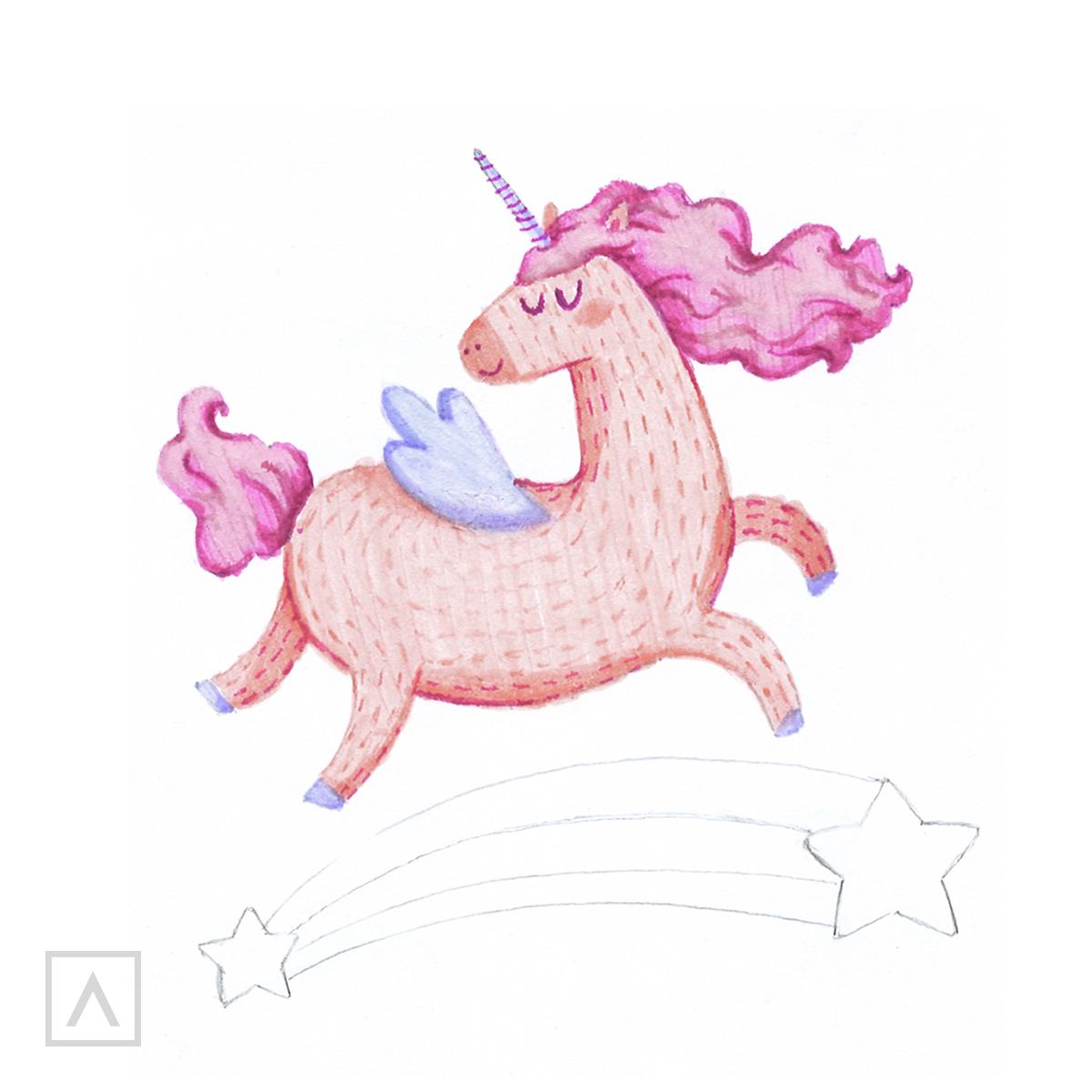 How to Draw a Unicorn - Step 9