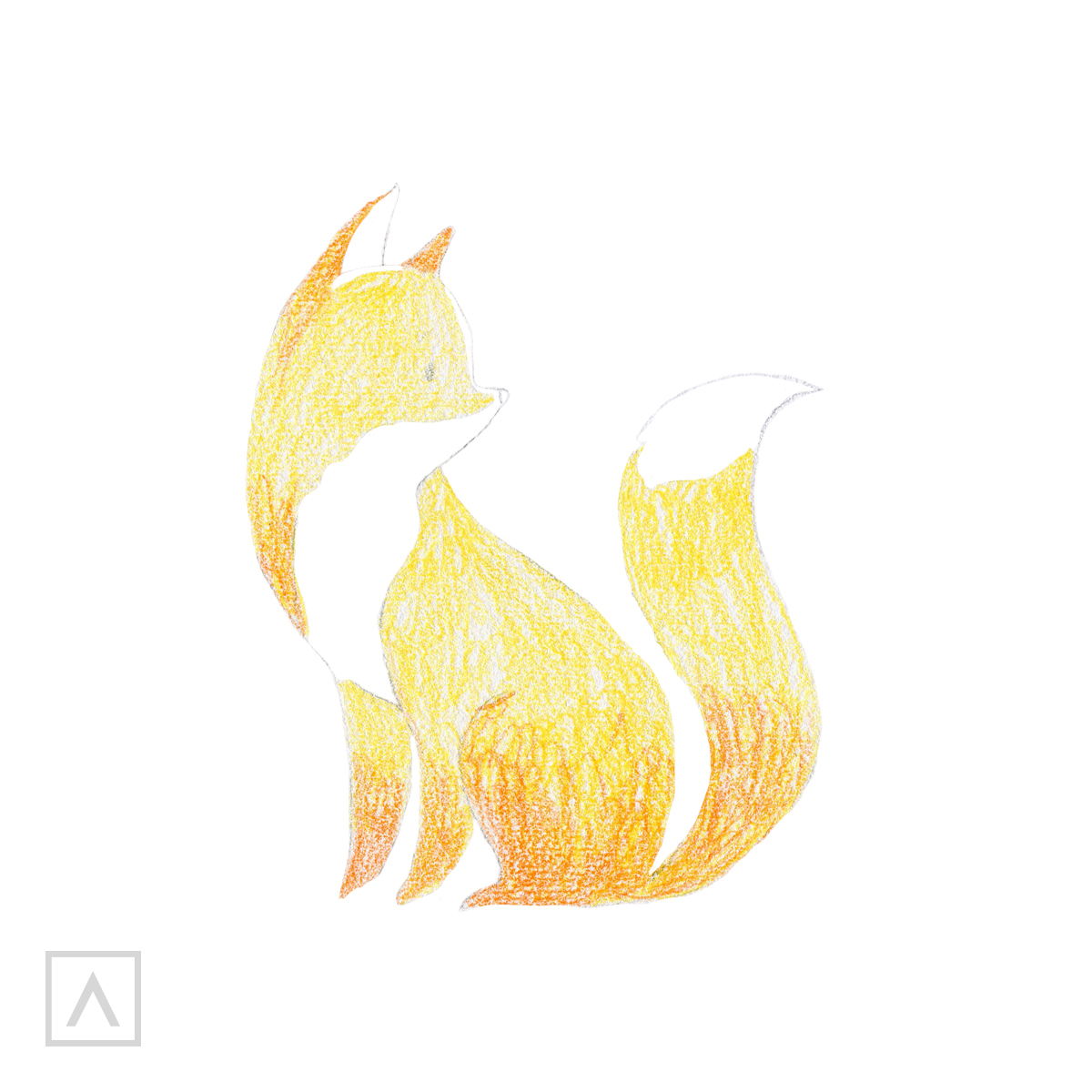How to draw a fox - Step 4