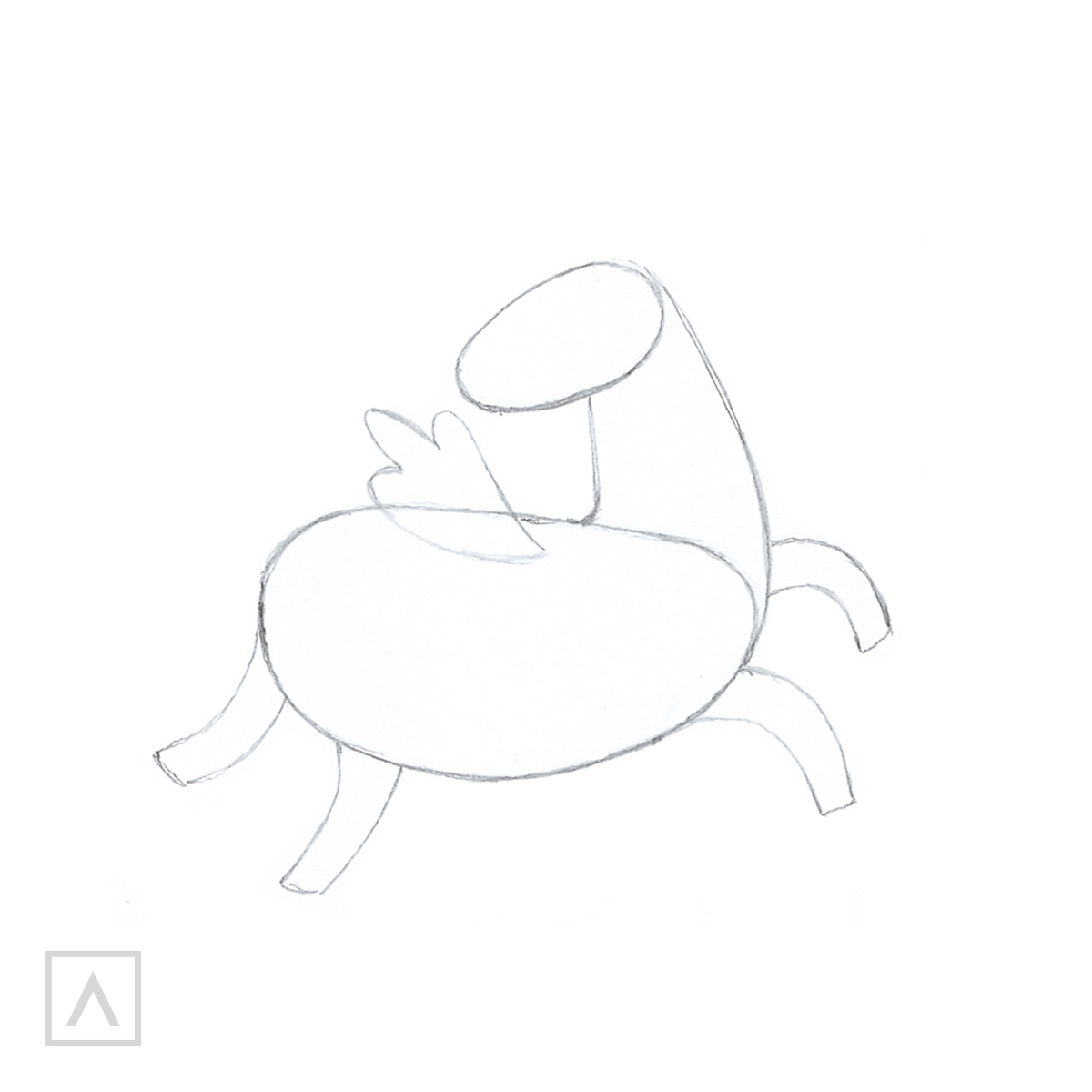 How to Draw a Unicorn - Step 2