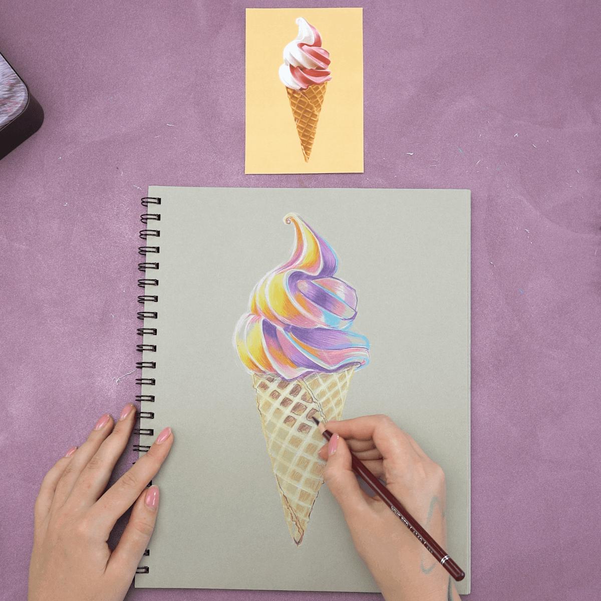 Ice Cream Cone Drawing Step 7