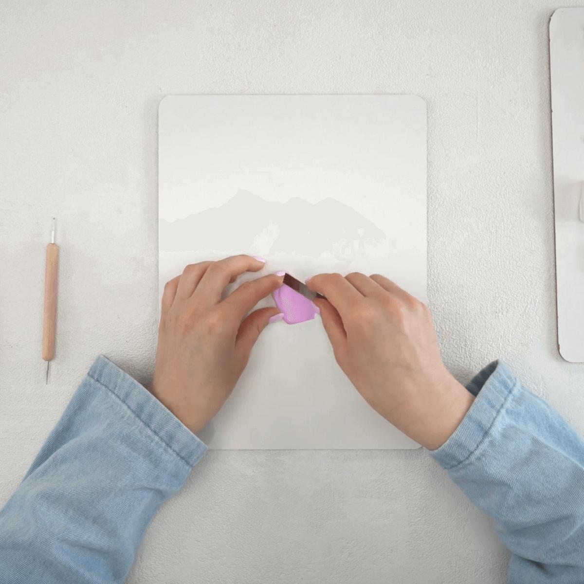Polymer Clay Jewelry Step 1