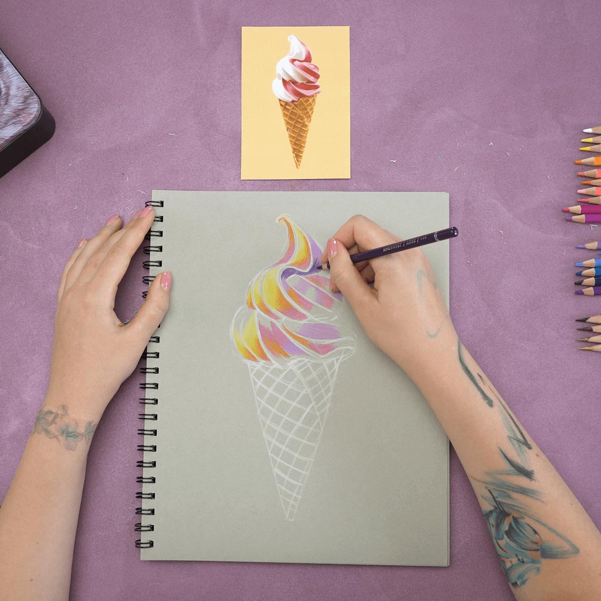 Ice Cream Cone Drawing Step 6