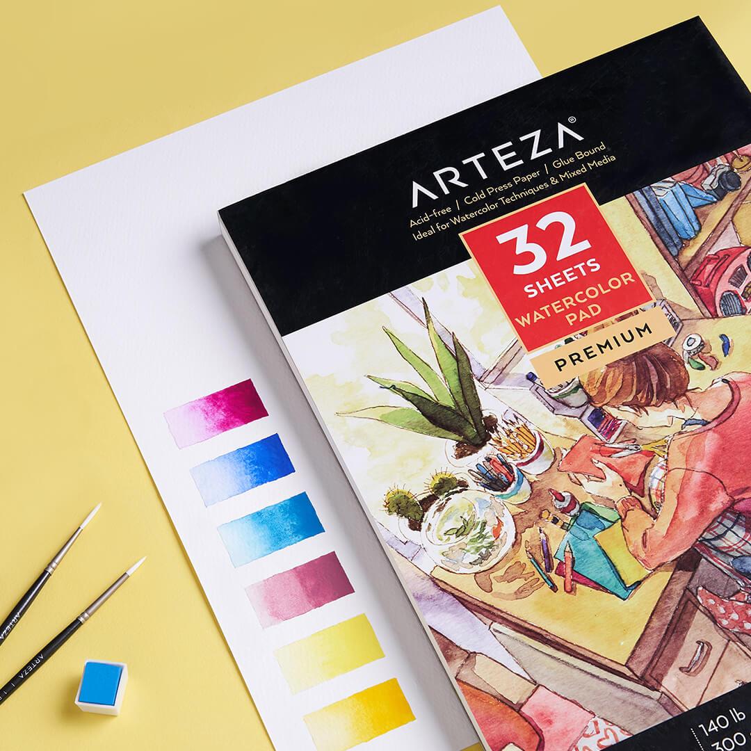 ARTEZA Premium Watercolor Paper Pad