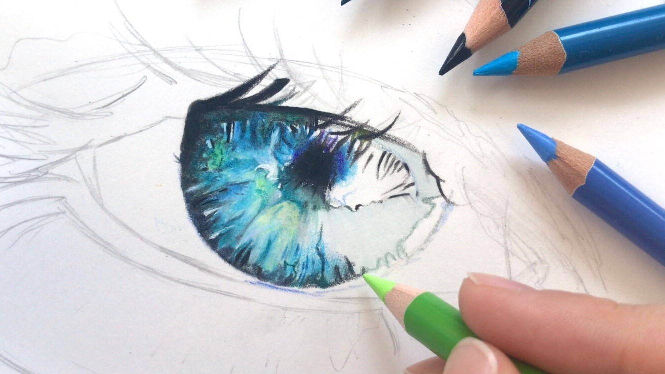 STEP 8: Coloring the Pupil