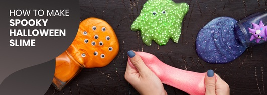 How to Make Spooky Halloween Slime Using Glue