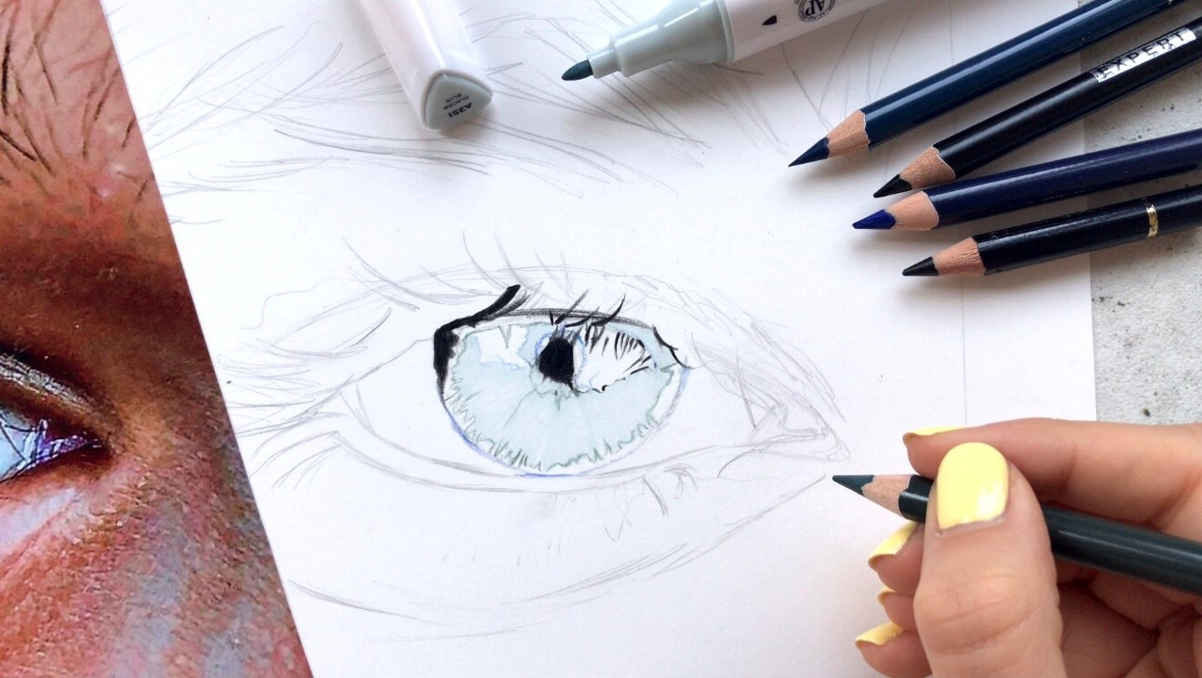 STEP 7: Coloring the Pupil (base color)