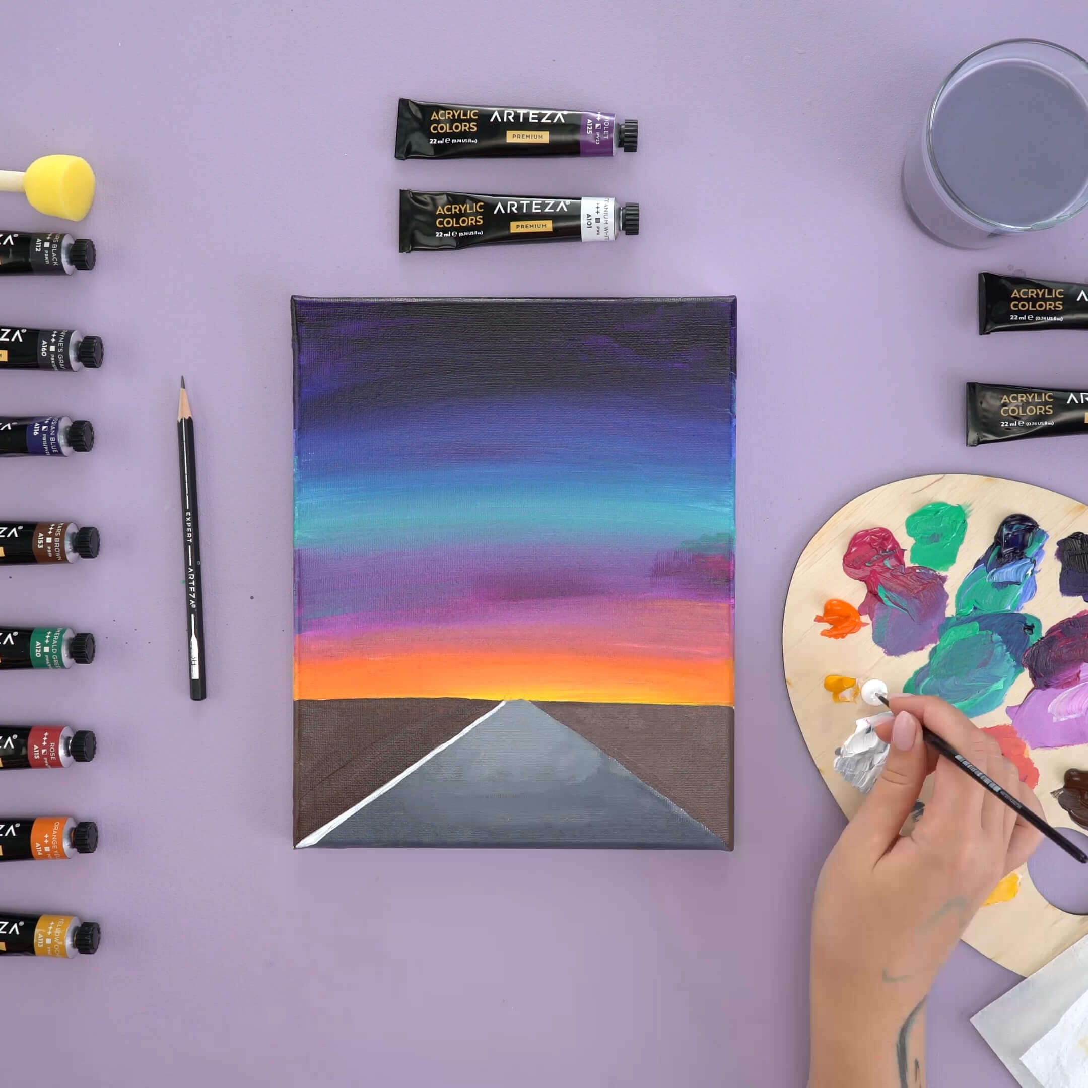 how to paint starry night sky