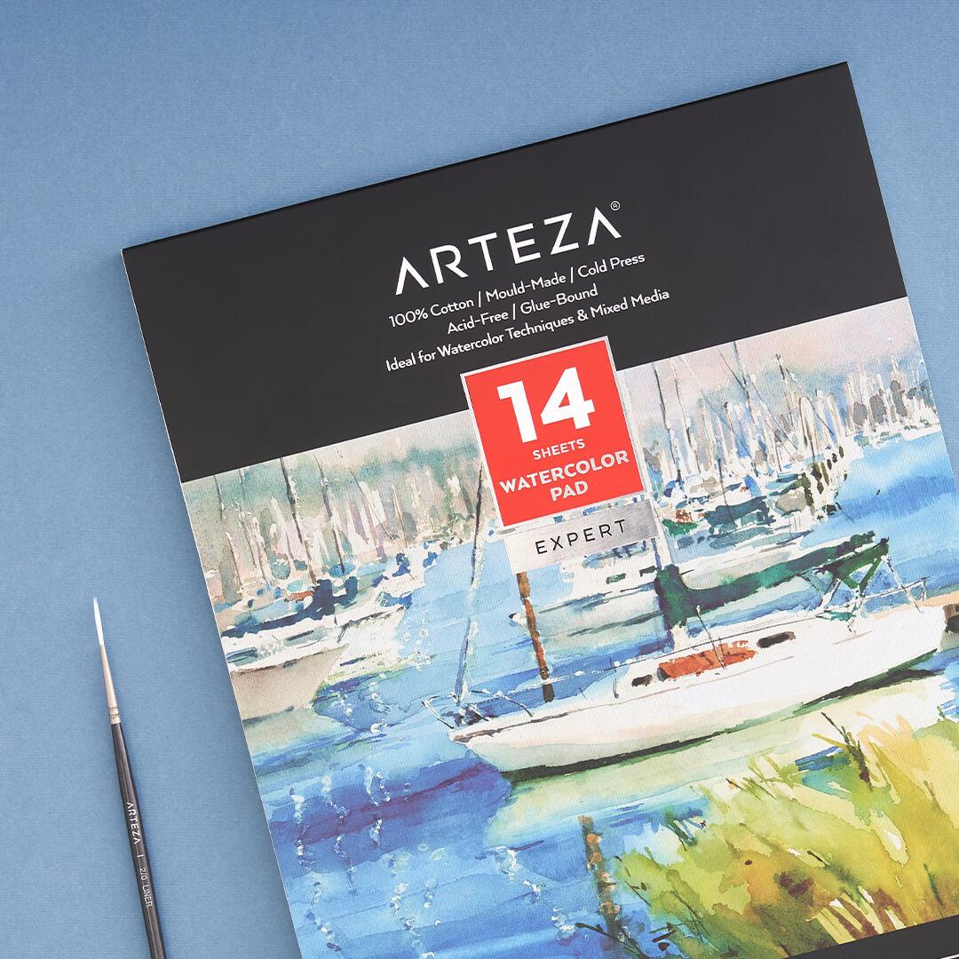 ARTEZA Expert Watercolor Glue-Bound Pad
