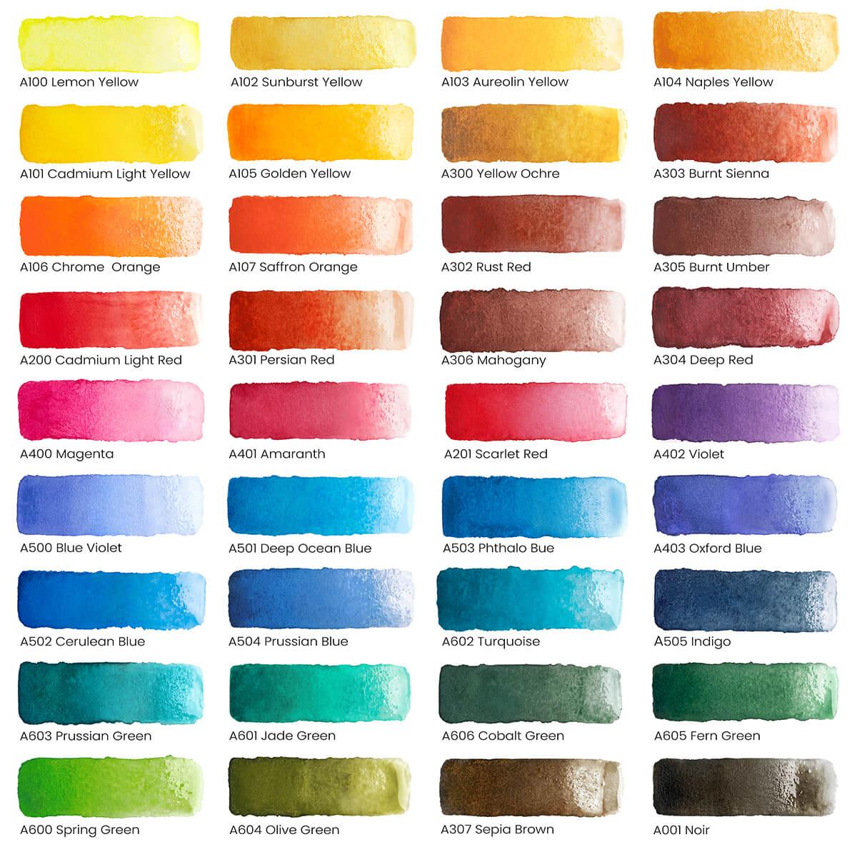 Arteza Watercolor Paints 36
