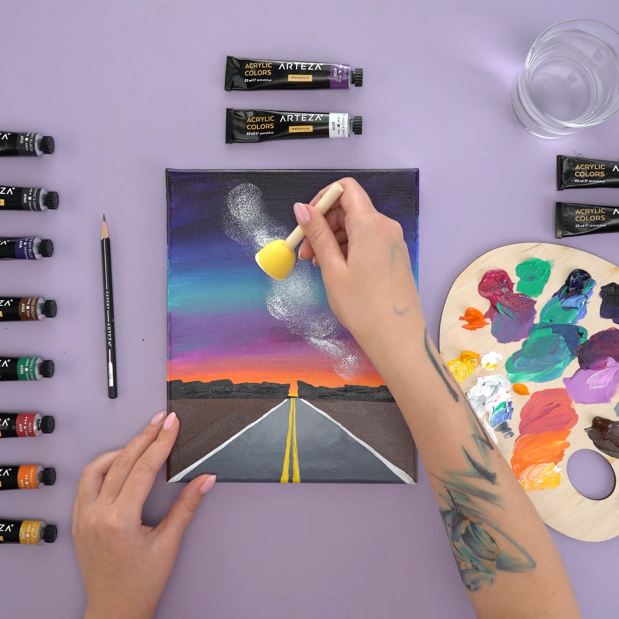 how to paint a starry night