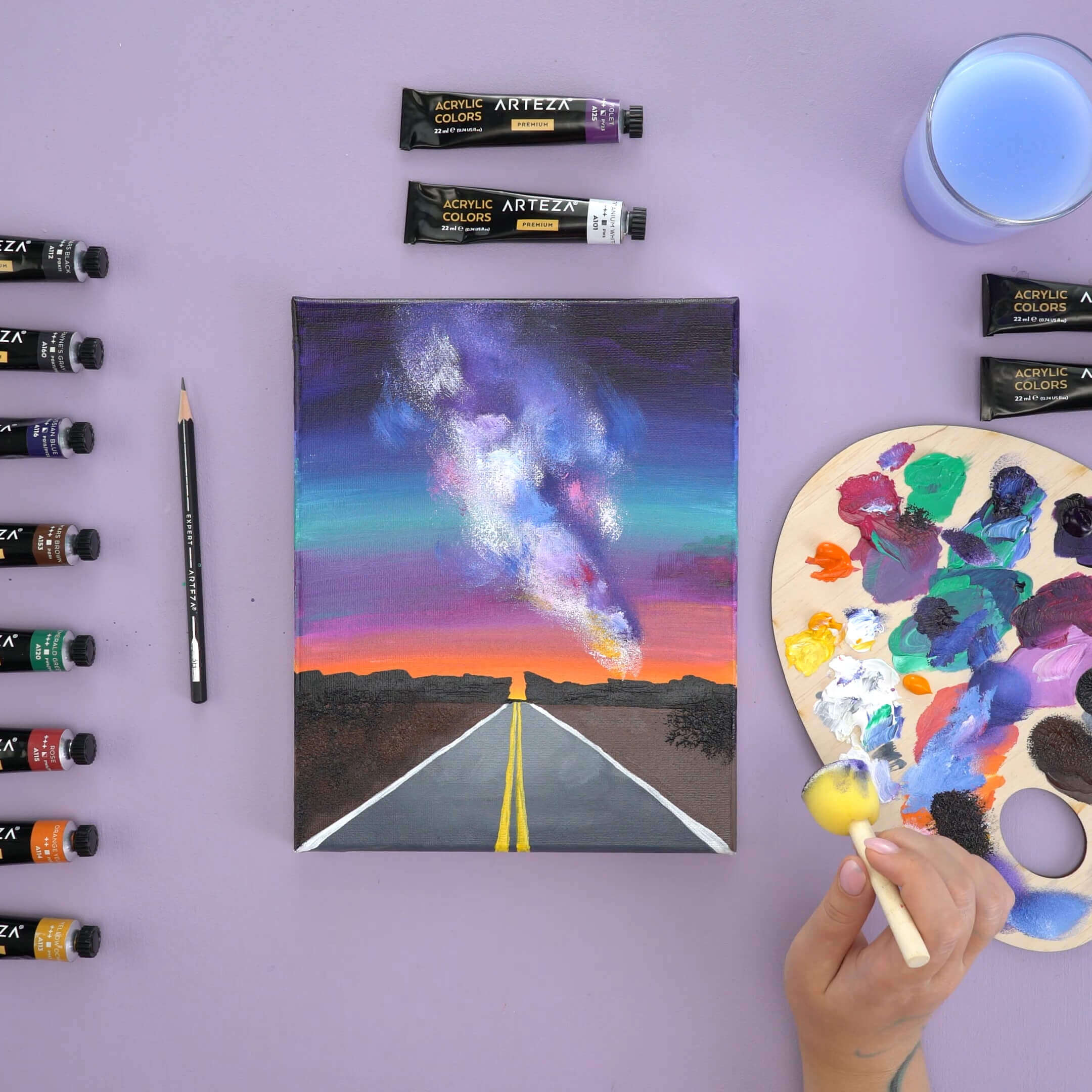 how to paint a starry night with acrylics