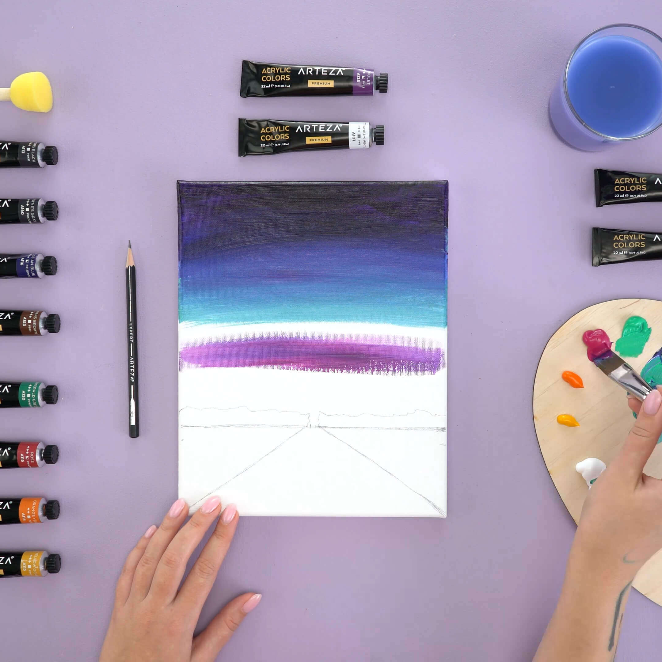 how to paint a starry night sky