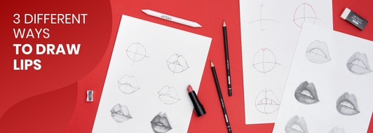 How to Draw Realistic Lips Step-by-Step in 3 Different Ways