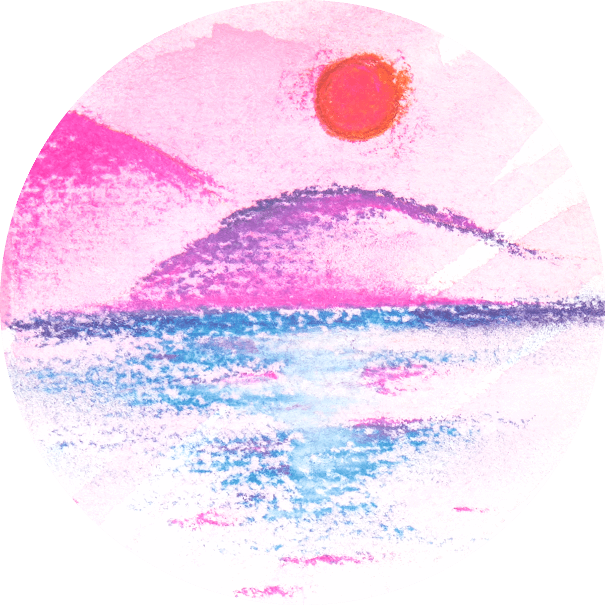 Watercolor + Pastels Technique