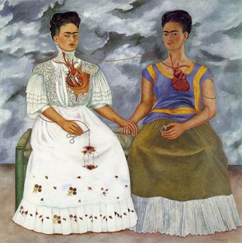 Las dos Fridas by Frida Kahlo