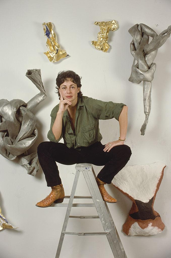 American sculptor Lynda Benglis, 1979