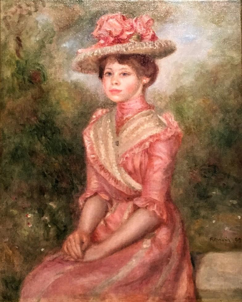 Pierre Auguste Renoir - Yvonne en rose