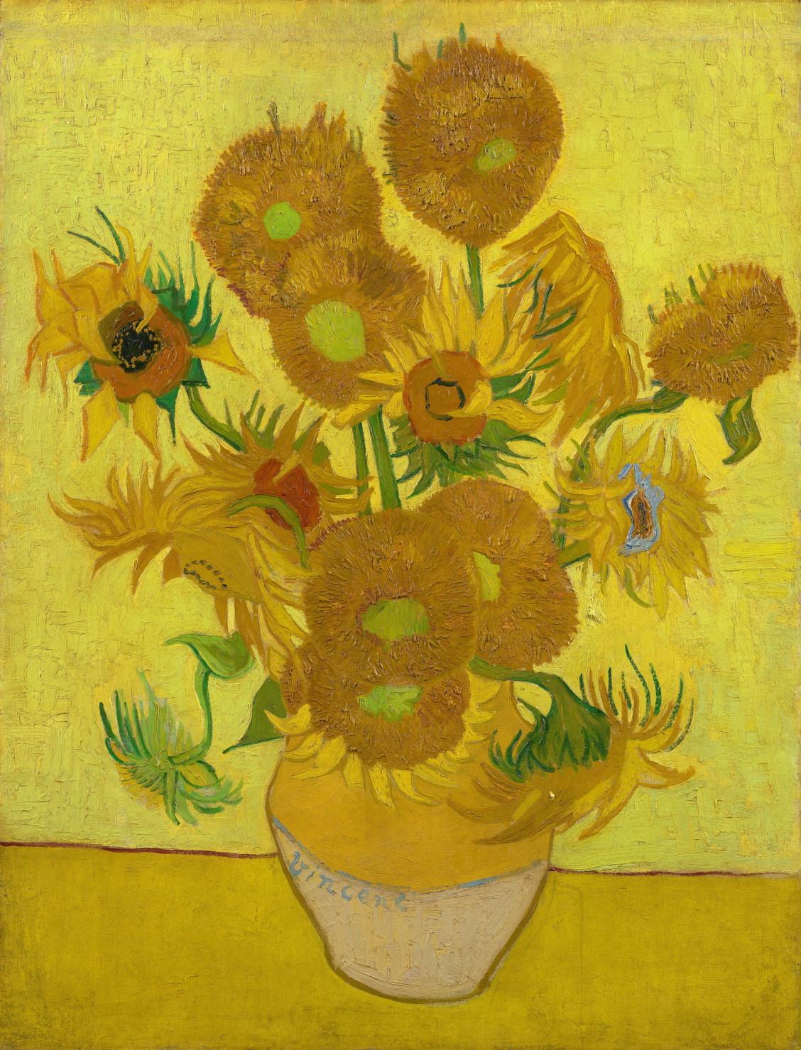"""""""Sunflowers,"""" 1889"""