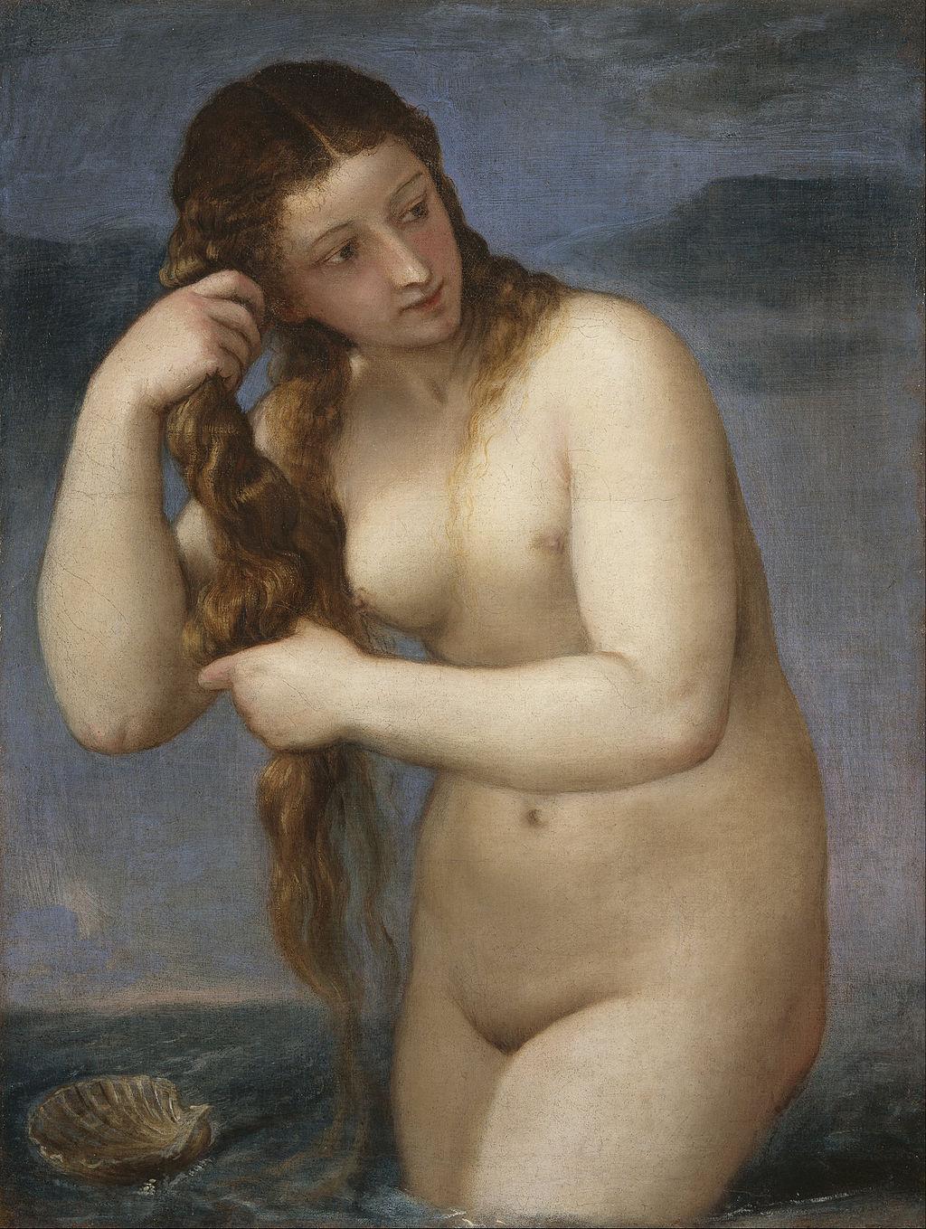 """Tiziano Vecellio (Titian) """"Venus Anadyomene"""""""