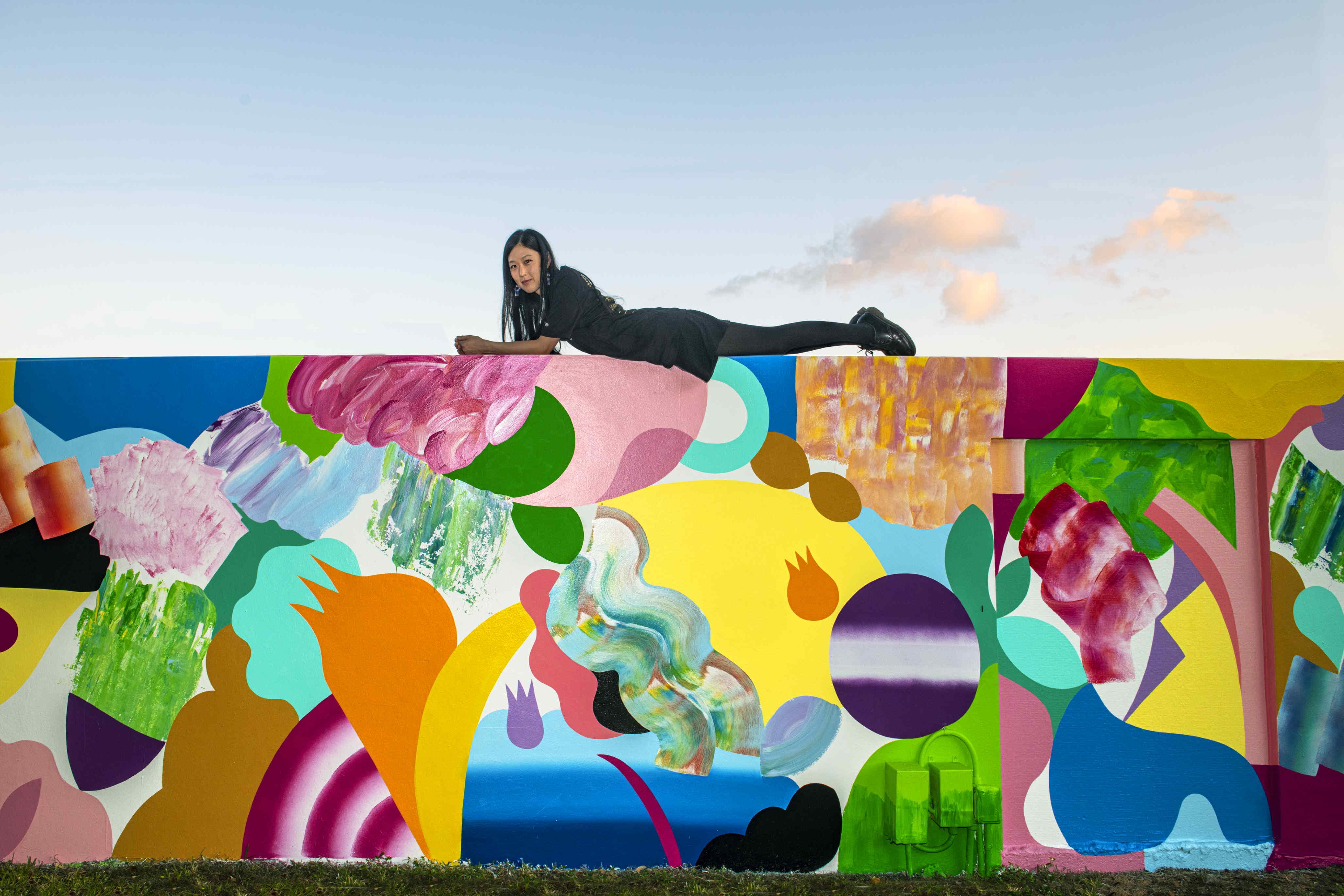 Mina Hamada at the Wynwood Walls