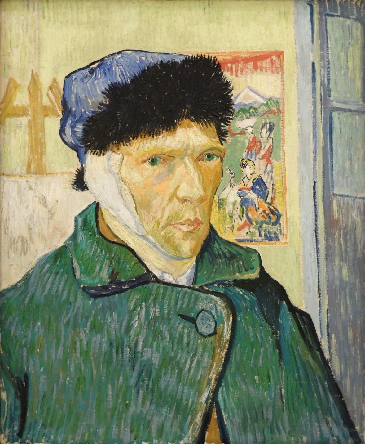 """Self-portrait with bandaged ear,"" 1889"
