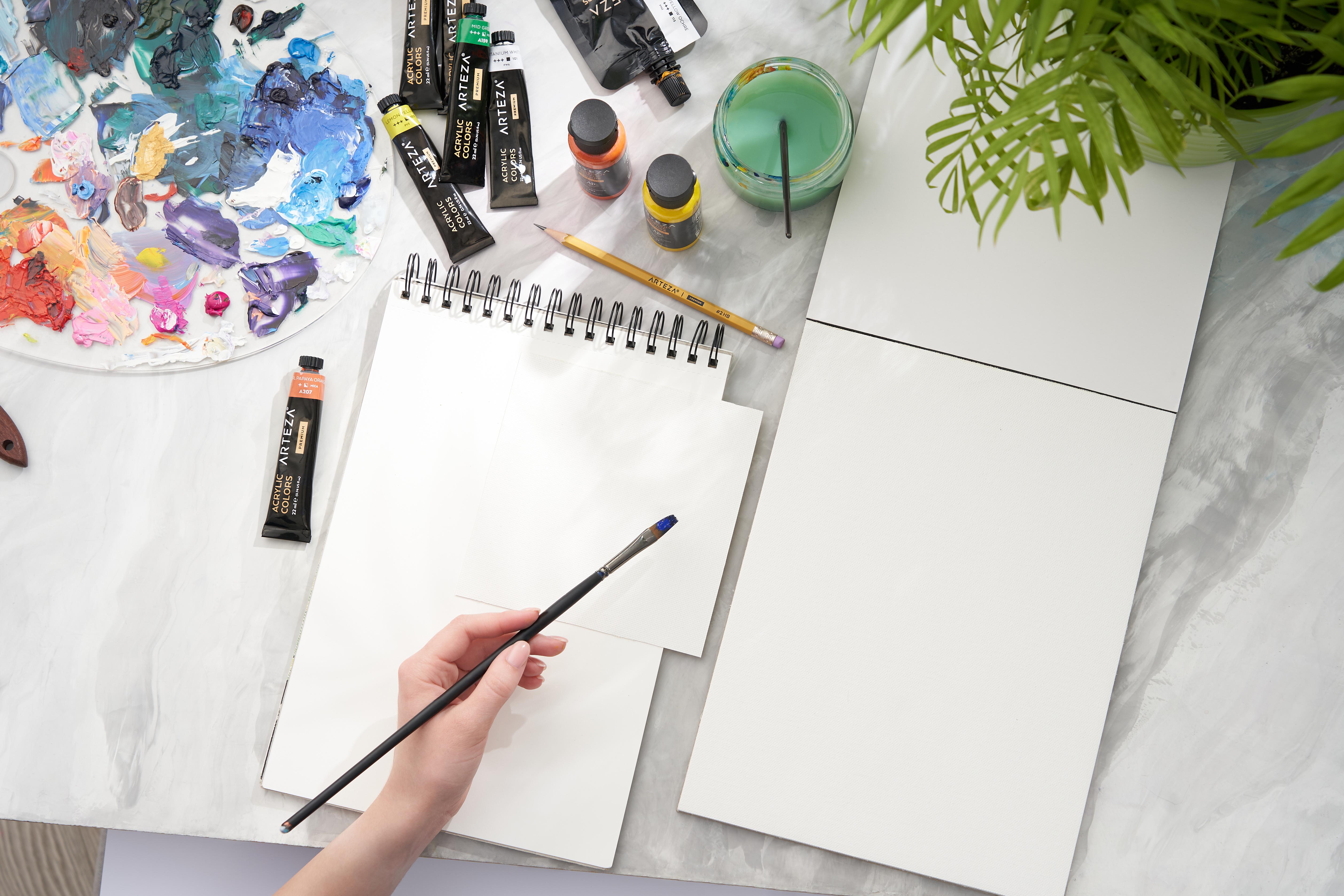 "Canvas Pad, 9"" x 12"", 10 Sheets"