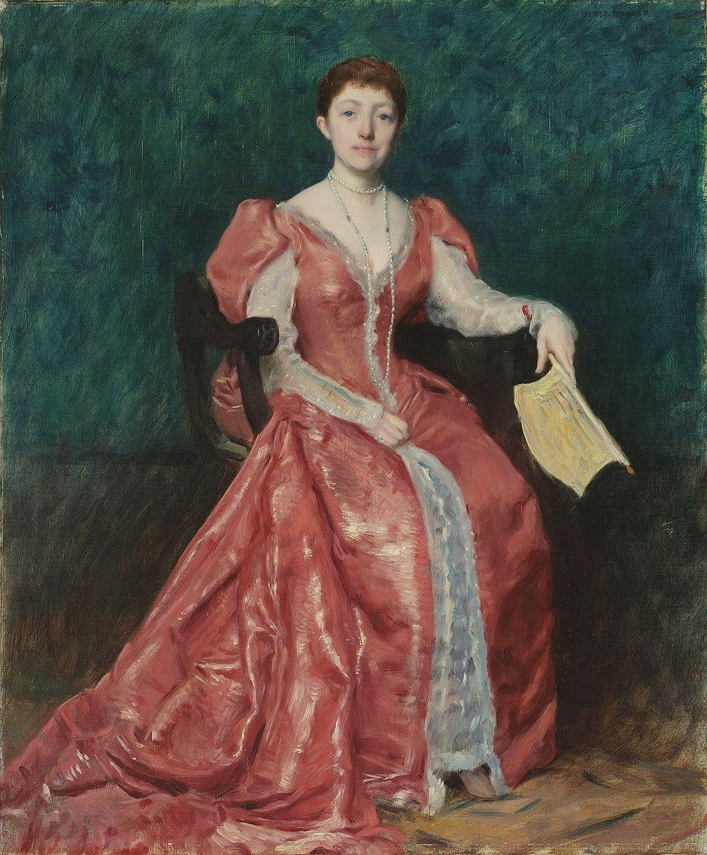 Painting of Isabella Stewart Gardner by Dennis Miller Bunker