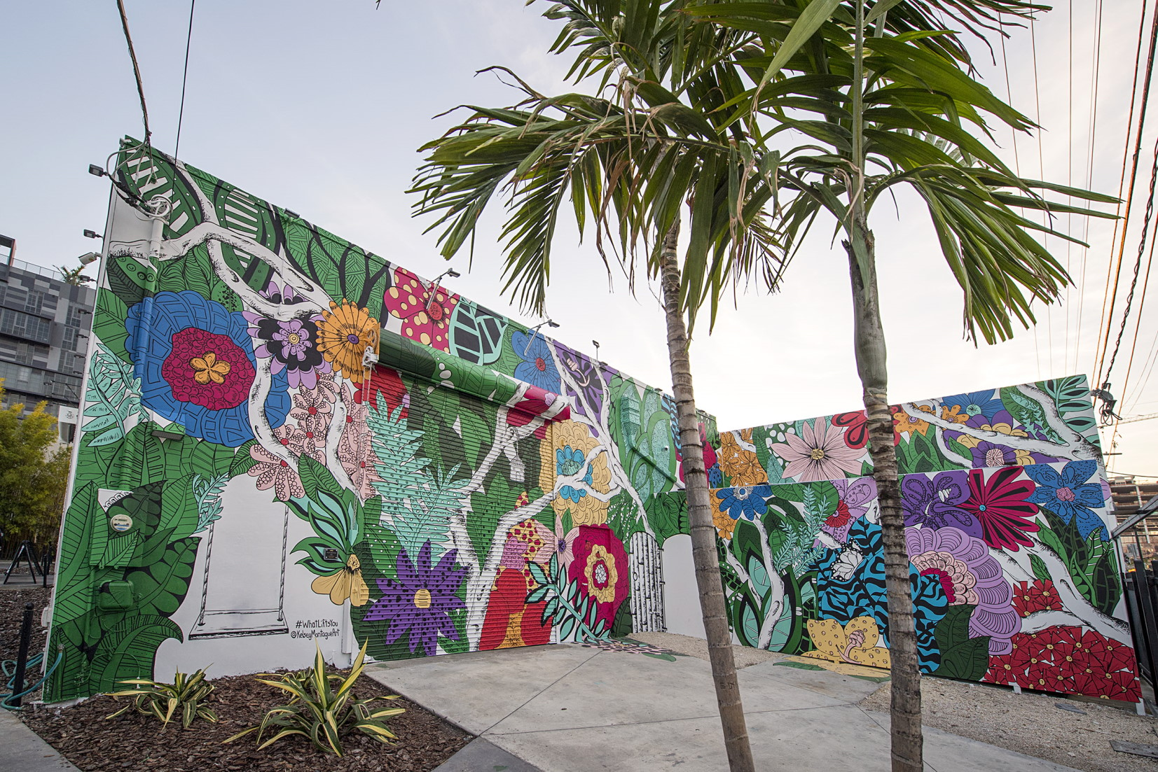 Kelsey Montague at the Wynwood Walls