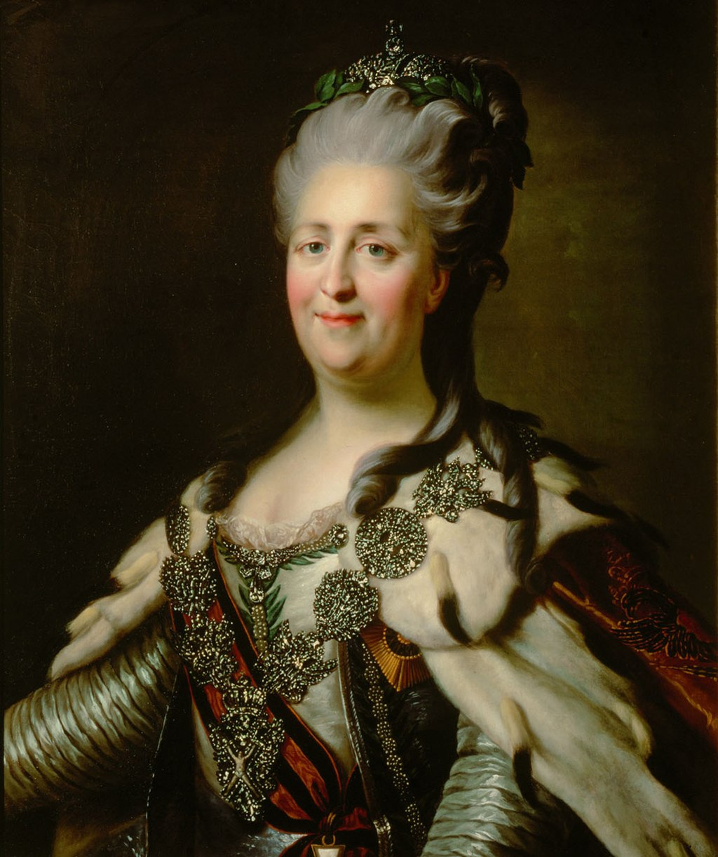 Painting of Catherine the Great by Johann Baptist von Lampi the Elder