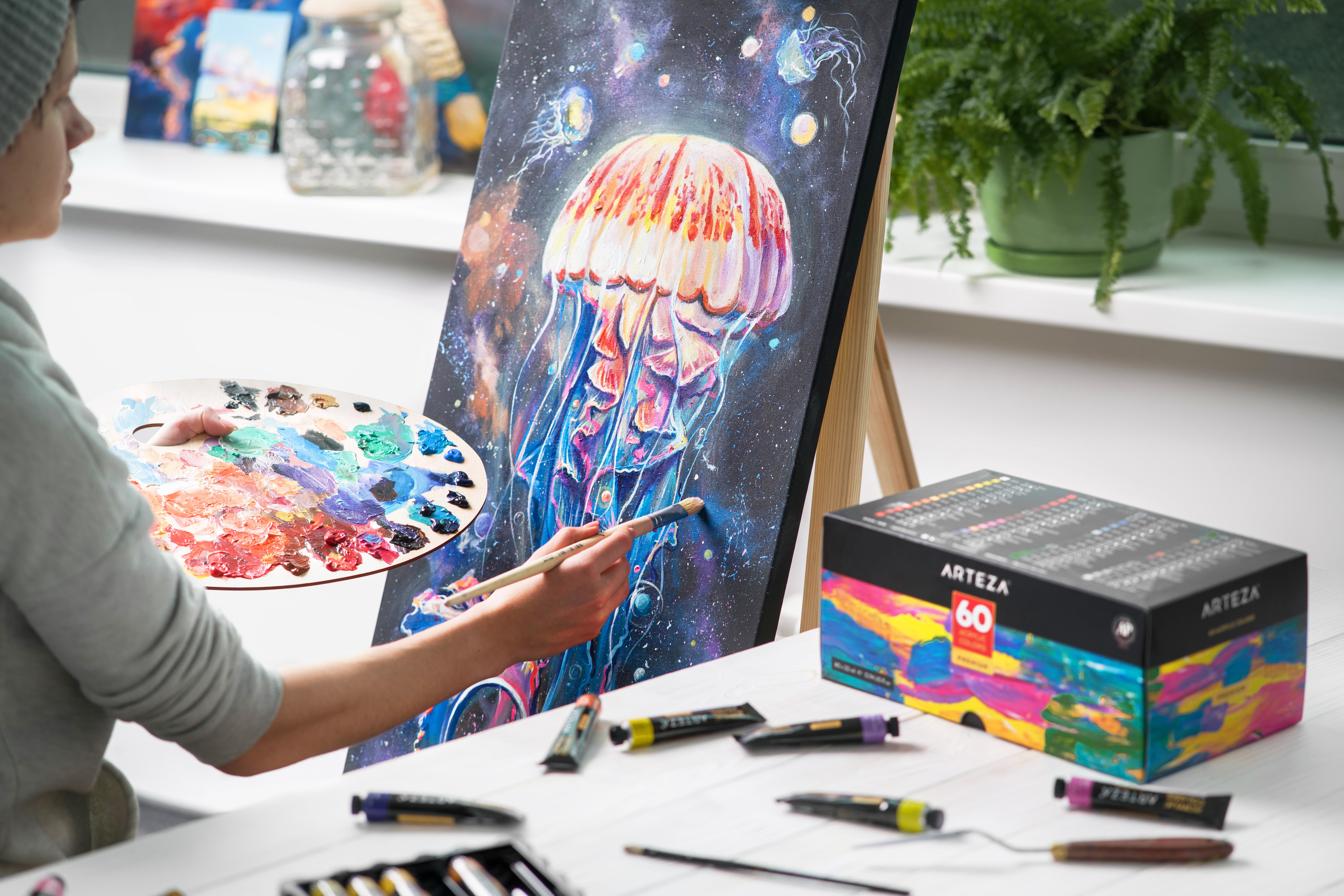 Acrylic Premium Artist Paints Set of 60