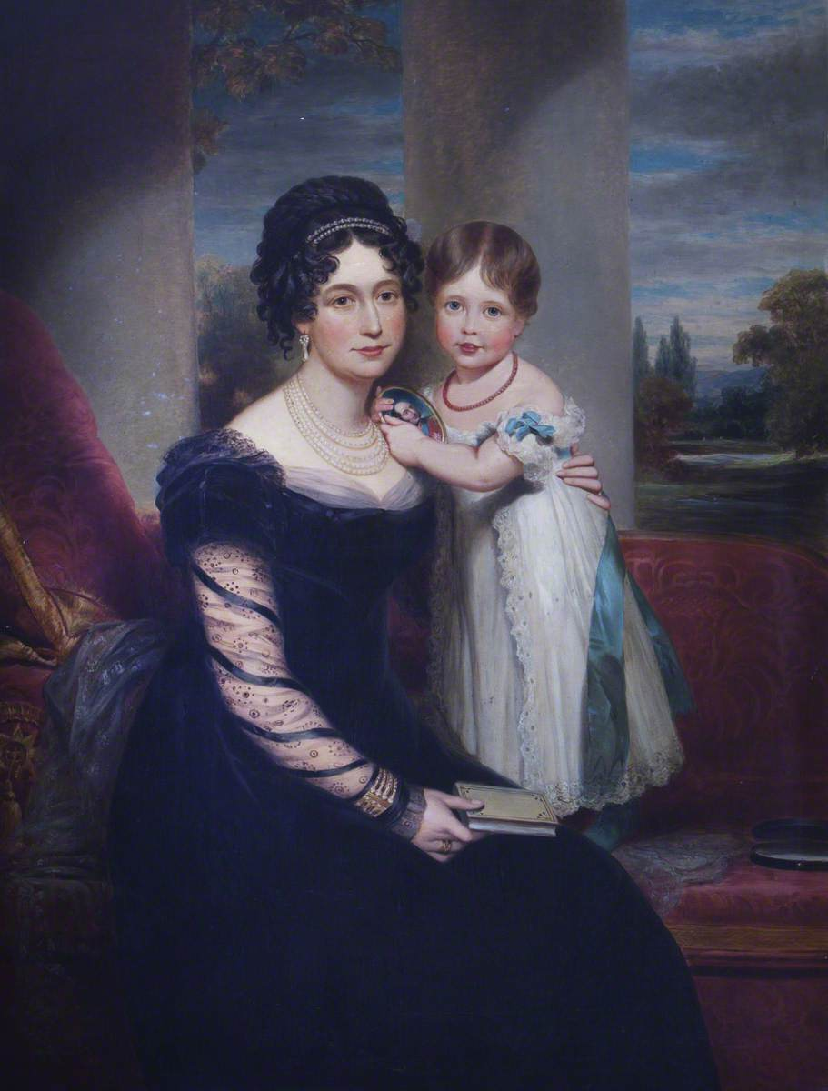 Queen Victoria (1819-1901) as a Child with her Mother Maria Louisa Victoria of Saxe-Coburg-Saalfield, Duchess of Kent (1786-1861)