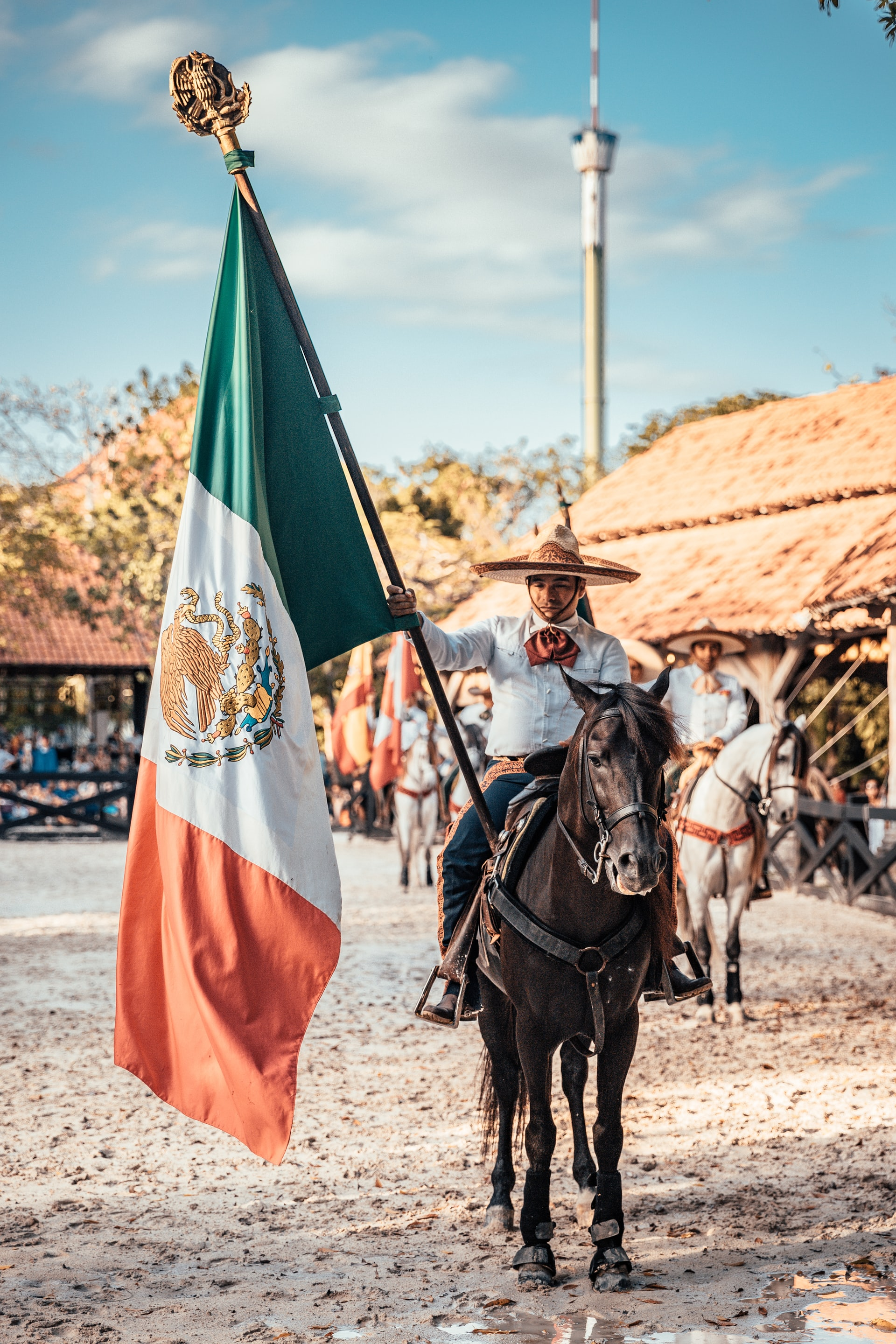 The Mexican Flag and a Charro