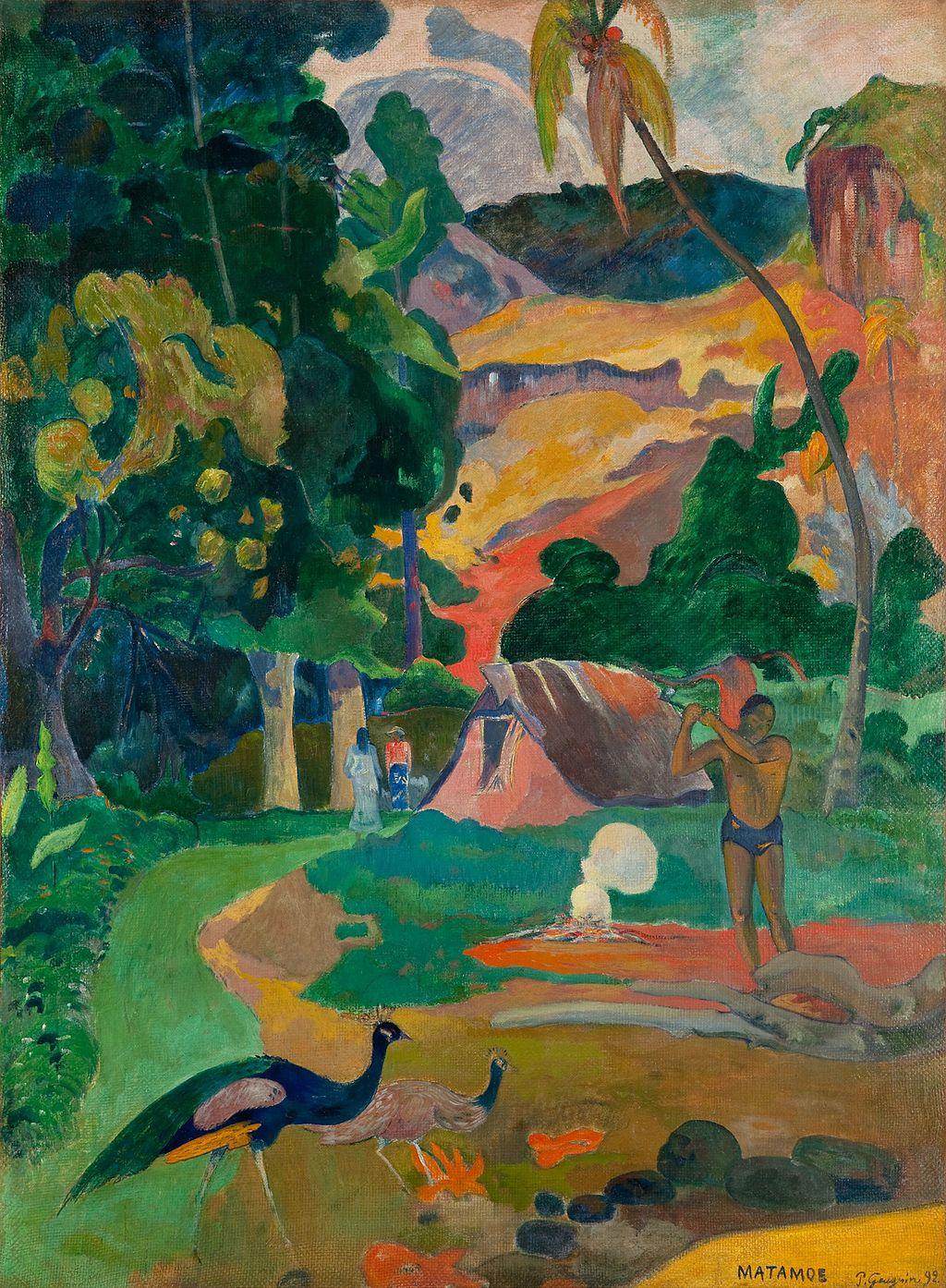 "Paul Gauguin, ""Matamoe (Death), Landscape with Peacocks,"" 1892"