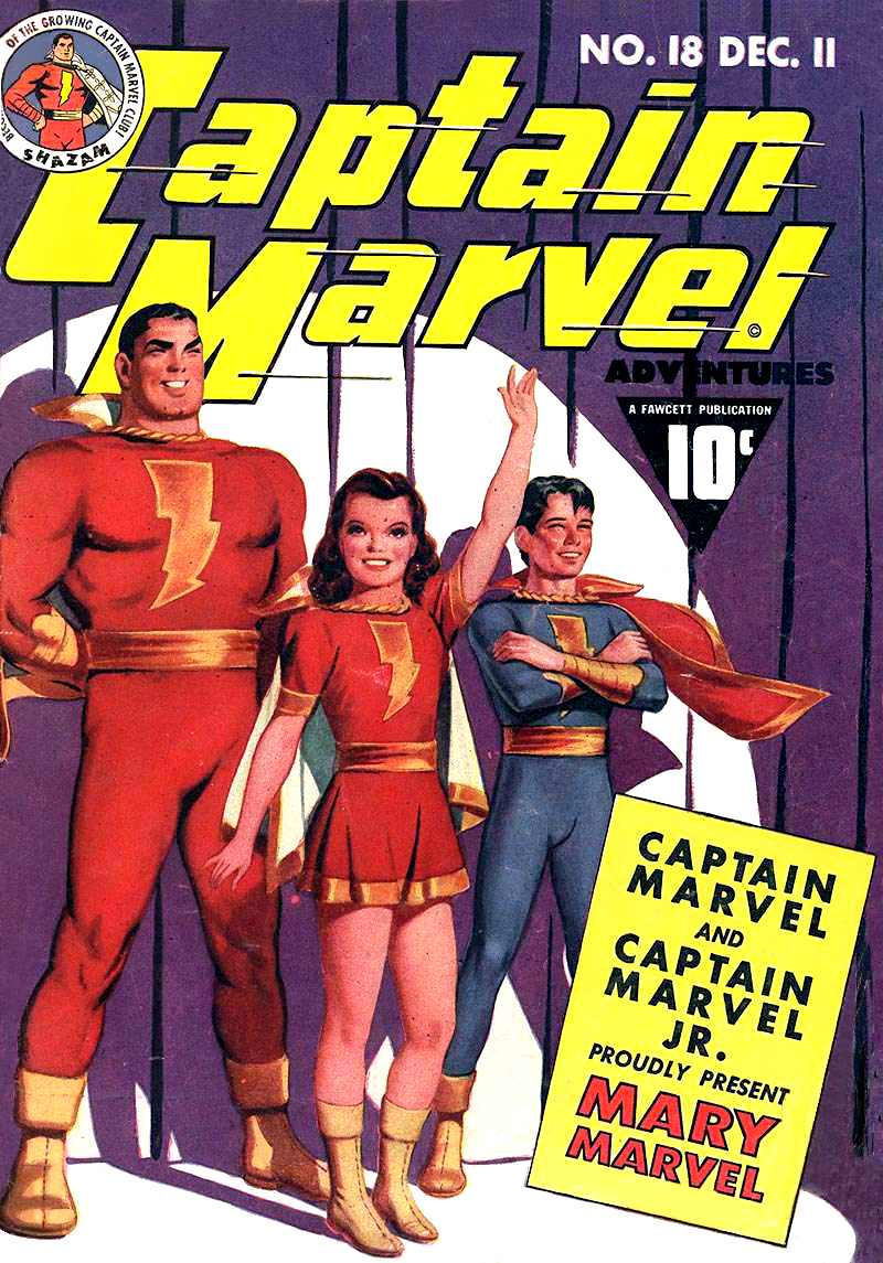 """""""Captain Marvel Adventures"""" #18 comic book, published in 1942, first appearance of Mary Marvel"""