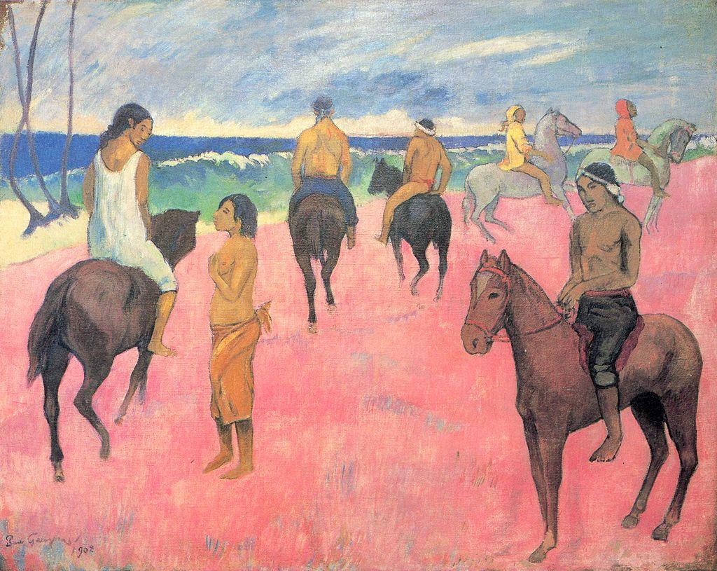 "Paul Gauguin, ""Cavaliers sur la plage (II)"" (""Riders on the Beach (II)""), 1902"