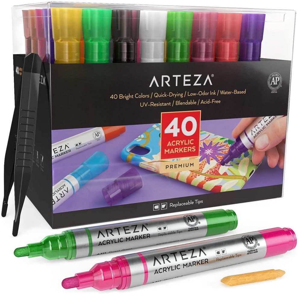Acrylic Markers Set Of 40 YopfQi92 990x990