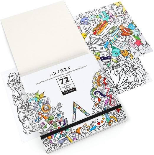 Coloring Books, Animal & Doodle Illustrations ARTEZA