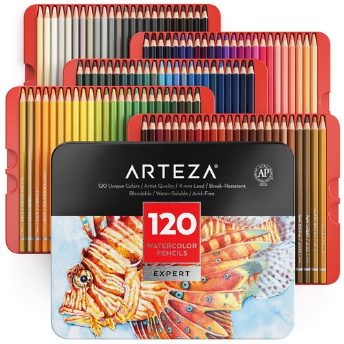 Professional Watercolor Pencils - Set of 120 | ARTEZA