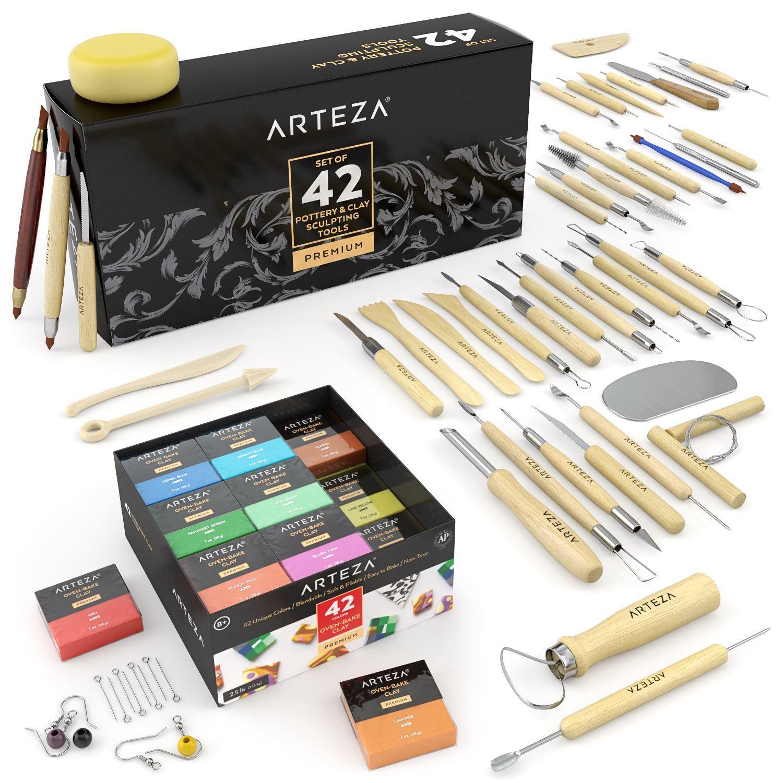 Set of 42 Arteza Pottery /& Clay Sculpting Tools